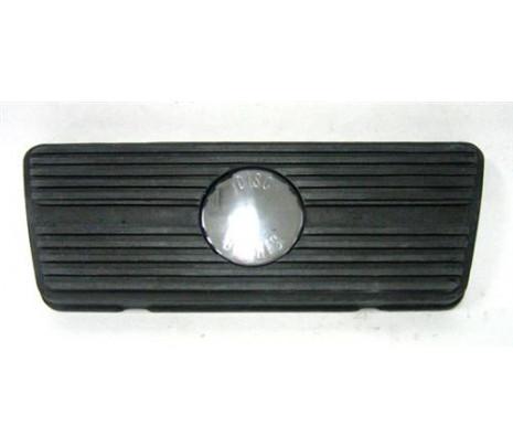 1967-1969 A/T Disc Brake Pedal Pad (including chrome emblem). - Classic Muscle (3930091)