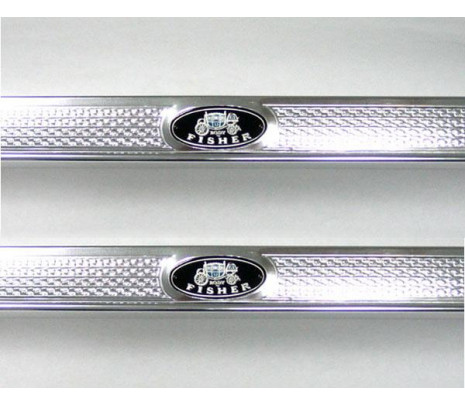 1955-1957 2 Door Sill Plates (USA correct stamped) - Classic Muscle (4651283)