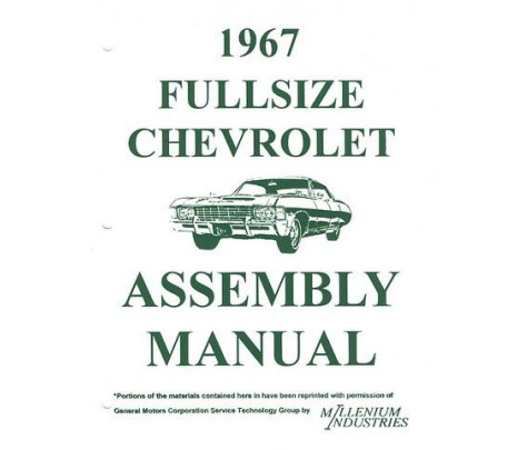 1967 Passenger Assembly Manual - Classic Muscle (3891771)