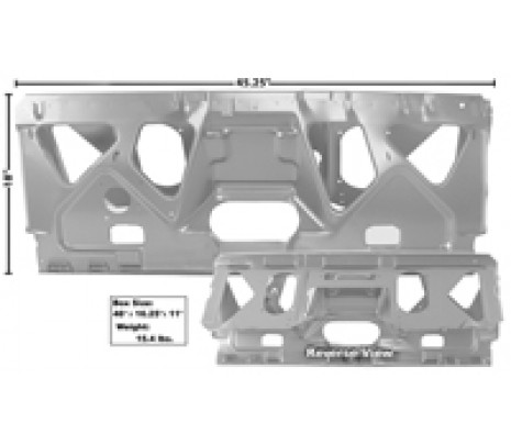 1970-1972 Chevelle Convertible Rear Seat Mount Panel (TRUCK FREIGHT) - Classic Muscle (1462LA-104)