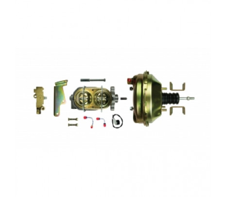 """1955-58 Belair/150/210 Master Cyl 9"""" Booster, Prop Valve Combo Kit w/brkts - Classic Muscle (G92210572)"""