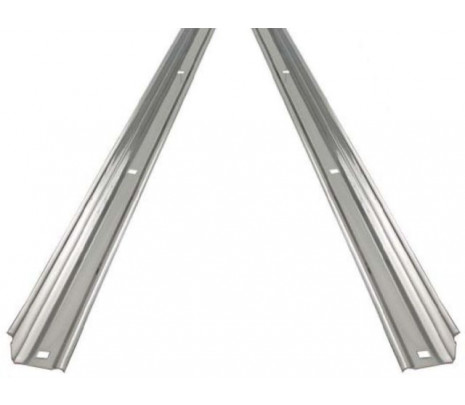 1967-72 C10 Stepside Longbed Steel Bed Angle Strips (pair) OVERSIZE ITEM - Classic Muscle (110156-M)
