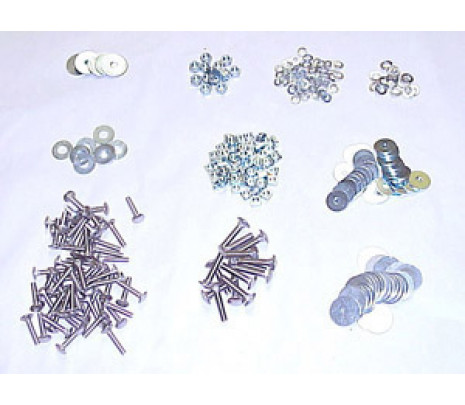 1954-1959 Stepside Short Bed Bed Strip Bolt Kits, Zinc Plated - Classic Muscle (100348-M)