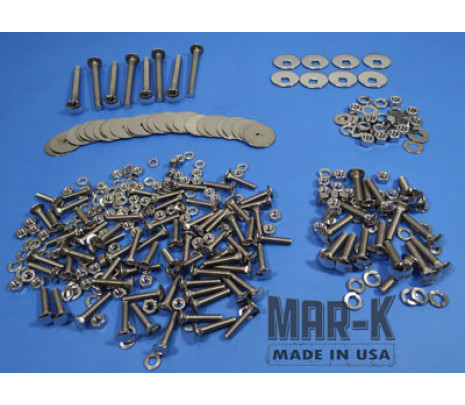 1960-1966 C10 Longbed Stainless Steel Bed Bolt Kit (polished) - Classic Muscle (100394-M)