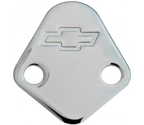 Chrome Fuel Pump Block-Off Plate Big-Block - Classic Muscle (141-211)