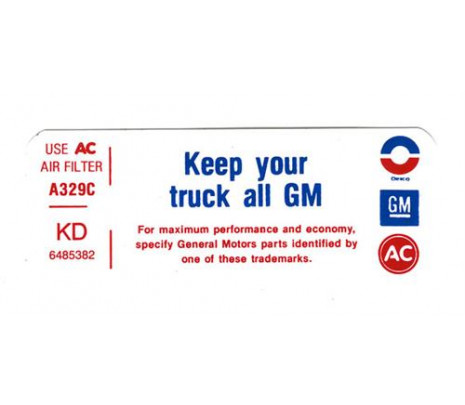 1972 KD Keep Your Truck GM - Classic Muscle (DC867)