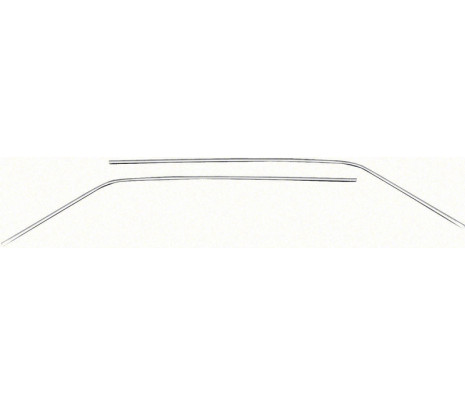 1966-1967 Nova Hard Top Drip Molding Set RH and LH Stainless Steel - Classic Muscle (75825134)