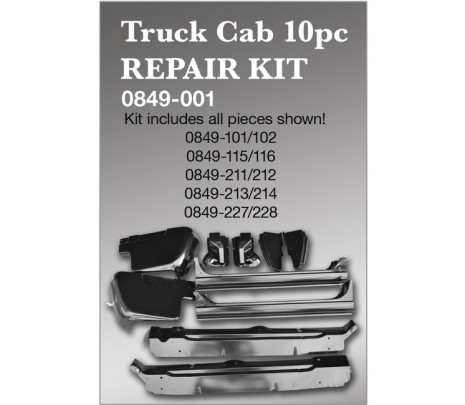 1967-1972 Chevrolet/GMC Pickup Truck 10 piece truck cab repair kit (OVERSIZE ITEM) - Classic Muscle (849001)