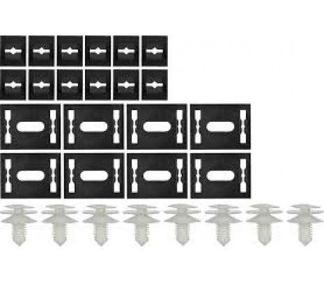 1972-1974 Camaro Door Panel Complete Clip Set [28pcs] - Classic Muscle (881124)