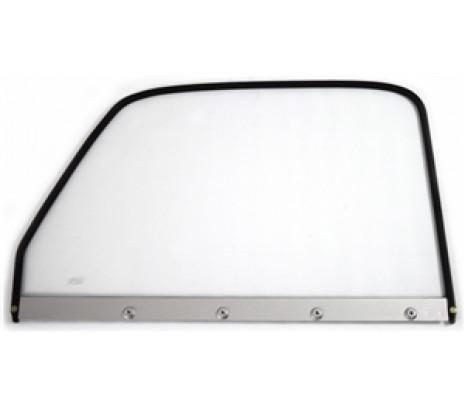 1947-50 P/U LH Clear Door Glass w/black frame - Classic Muscle (846913)