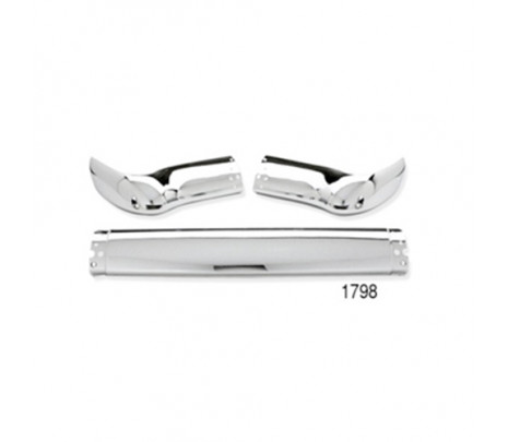 1955 Nomad Rear Bumper 3 Piece,no Guards (OVERSIZE ITEM) - Classic Muscle (1798A-140)