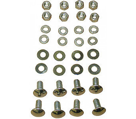 1966-67 Chevelle Rear Bumper To Bracket Bolt Kit ,CORRECT 24 pcs - Classic Muscle (270507)