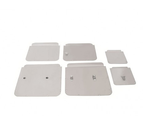 1955-57 Belair 2 & 4 door Sedan Door & Side Window access Hole Cover Set (6 pcs) - Classic Muscle (12014)
