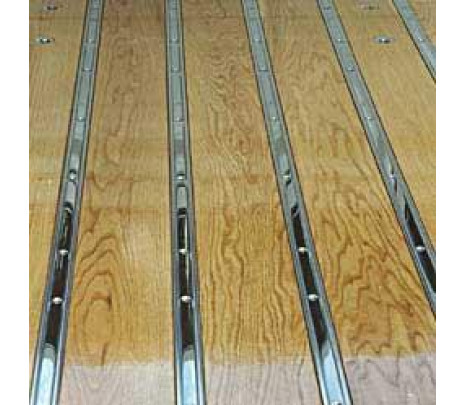 1967-72 C10 Stepside Longbed Stainless Steel Polished Bed Floor Strips (7 pcs) OVERSIZE ITEM - Classic Muscle (110064-M)