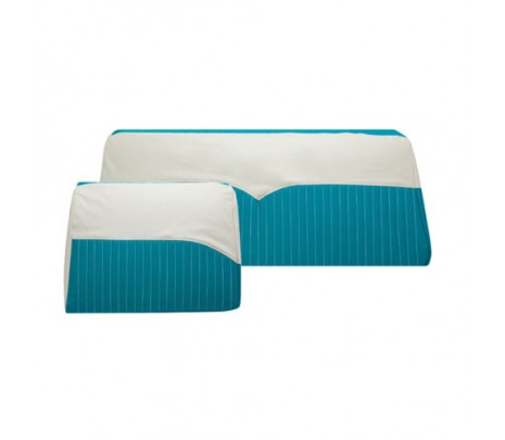 Seat Covers Turq & Ivory ,Conv - Classic Muscle (1913-C)