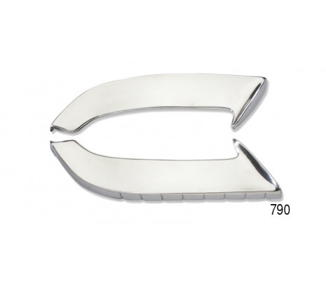 1955 Chevy Front Accessory Gravel Shields, Pair - Classic Muscle (L12-L)