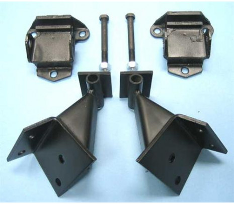 1955-1957 Belair/150/210 V8 Conversion Brackets with Mounts - Classic Muscle (PK4195)