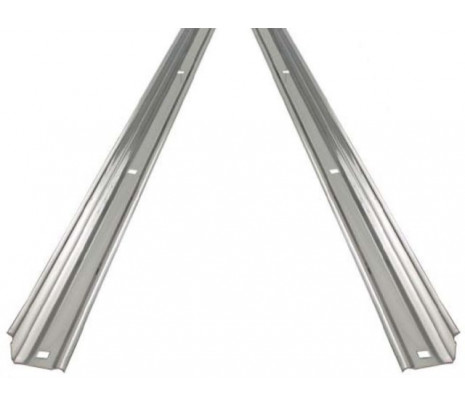 1954-1959 Stepside Short Bed Bed Angle Strips, Steel (pair) OVERSIZE ITEM - Classic Muscle (110114-M)