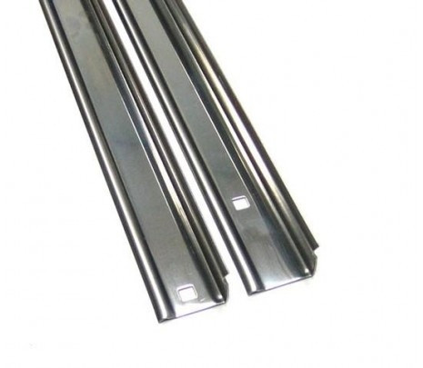 1963-66 C10 Stepside Longbed Steel Bed Angle Strips (pair) OVERSIZE ITEM - Classic Muscle (110153-M)