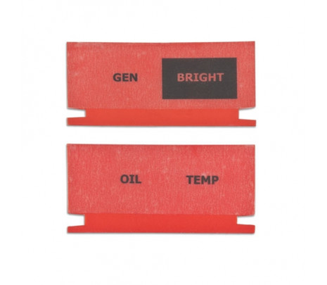 1966-67 Chevelle Dash Indicator Lens Set - Classic Muscle (230023)