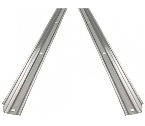 1954-1955 Stepside Long Bed Angle Strips Stainless Steel Unpolished [pr] OVERSIZE ITEM - Classic Muscle (110134-M)
