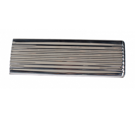 1947-53 Chevy Pickup Glove Box Door Stainless w/painted details - Classic Muscle (846803)
