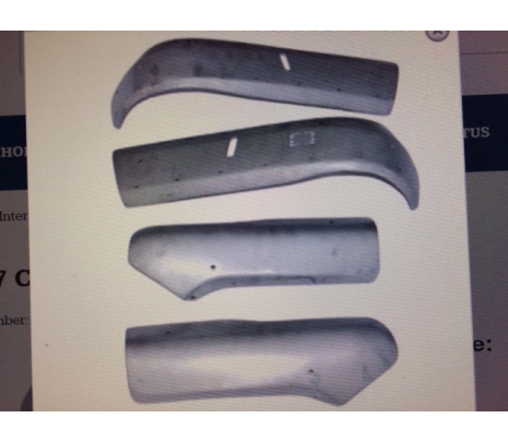 1955-56 Chevy Seat side panels Upper and Lower,2 Dr Bench Seat - Classic Muscle (MH217)