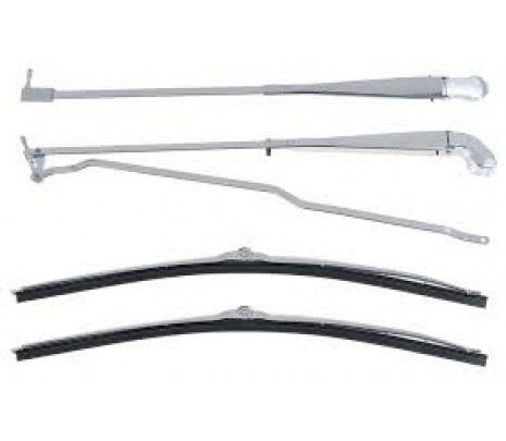 1970-81 Camaro Recessed Wiper Arms And Blades Stainless steel - Classic Muscle (9806051)