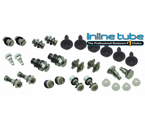 70-72-Chevelle Convertible-Top-Complete-Hardware-Set-Bolts-Bushings-Sleeves-Nuts - Classic Muscle (15209)