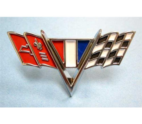1964-1967 Chevelle/El Camino Fender Emblem V crossed Flags - Classic Muscle (1034R)