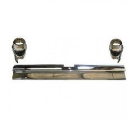 1957 Chevy Bel Air Rear Bumper Set, 3-Piece, Non-Wagon (OVERSIZE ITEM) - Classic Muscle (3729316)