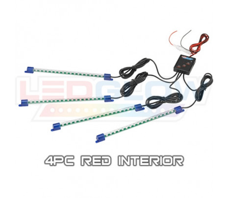 Red 4pc LED Interior Kit - Classic Muscle (RP6011)