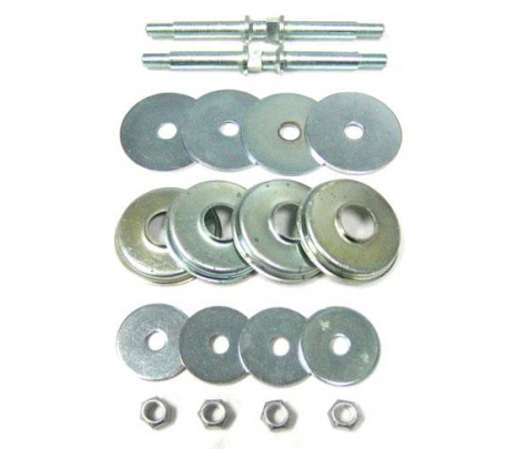 1955-1957 Belair/150/210 Front Motor Mount Hardware Kit (includes studs, nuts, caps & washers) - Classic Muscle (3714361K)