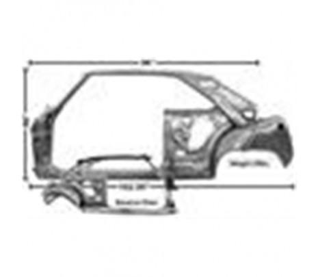 1966-1967 Nova LH Door/Quarter Frame Assy.,(TRUCK FREIGHT) - Classic Muscle (1619Q-104)