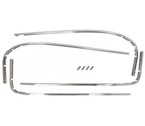 1964-66 C10 Windshield and Back glass Molding Set Stainless Steel (8 pcs) - Classic Muscle (6479520)