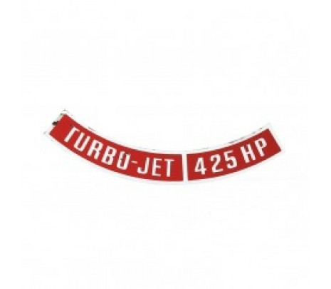1965-1969 Chevrolet Turbo-Jet 425 HP Air Cleaner Decal - Classic Muscle (DC26)