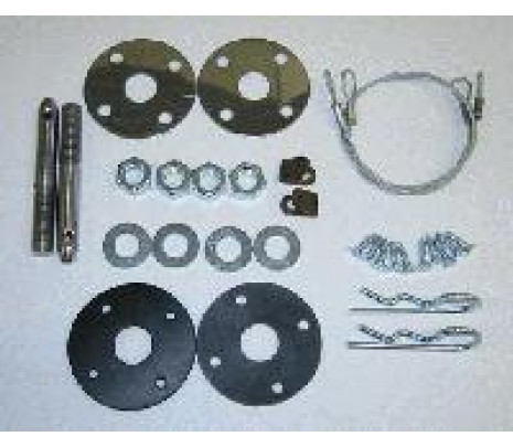 1967-1969 Chevelle Style Hood Pin Kit (correct) (Complete!) - Classic Muscle (HPK100)
