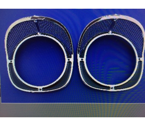 1957 Chevy Headlamp Bezel Set - Classic Muscle (MH113)