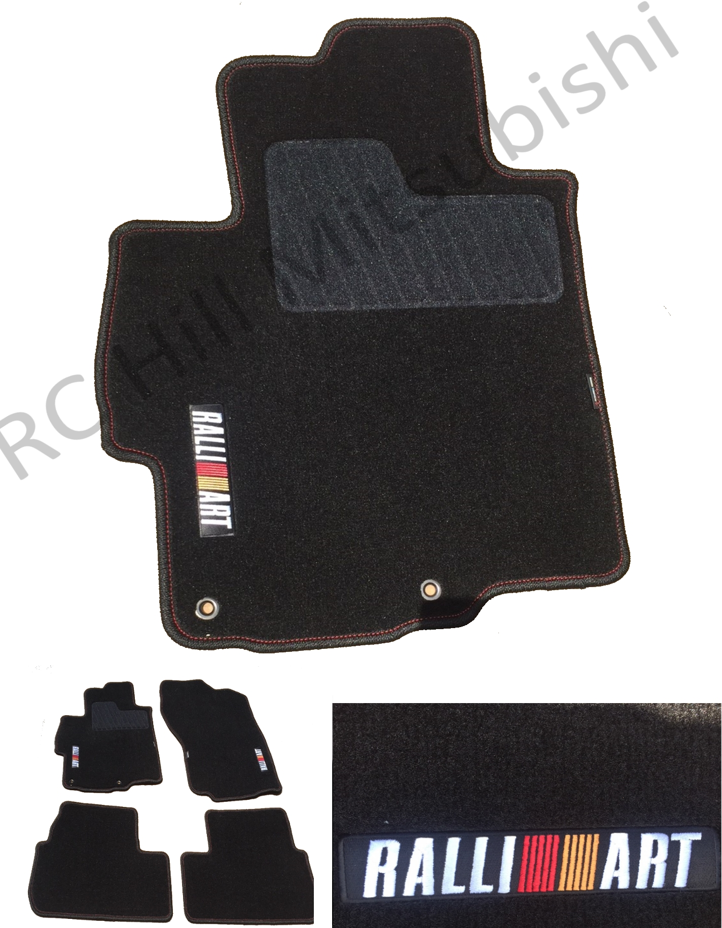 LAST SET AVAILABLE! Ralliart Lancer Floor Mats, Carpet - Mitsubishi (MZ360273EX)