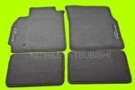 BLACK EVO EVOLUTION VIII Floor Mats, Carpet, left hand drive - Mitsubishi (ALN03XFB07)