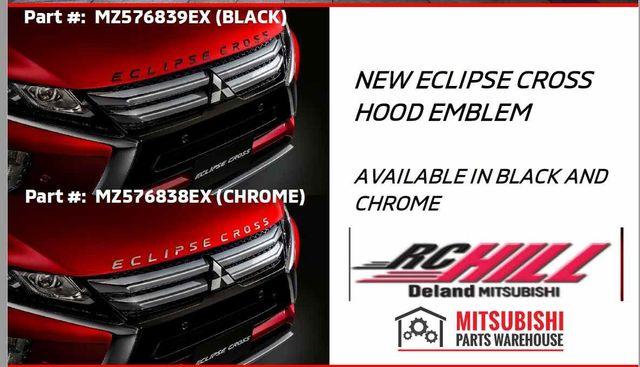 2019 GENUINE MITSUBISHI ECLIPSE CROSS HOOD EMBLEM LOGO DECAL - Mitsubishi (MZ576839EXorMZ576838EX)