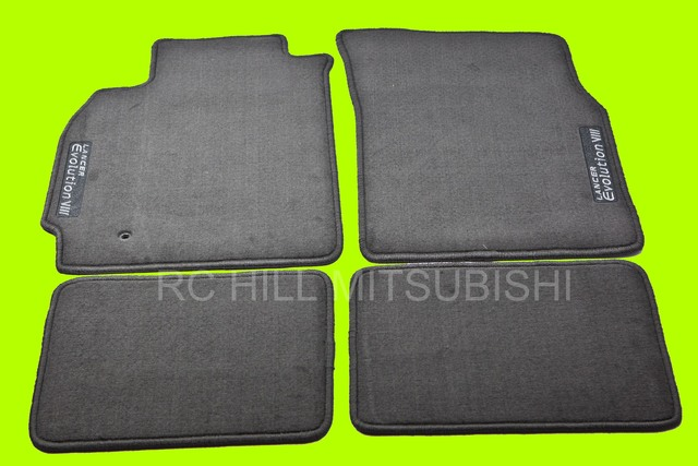 BLACK EVO EVOLUTION VIII Floor Mats, Carpet, left hand drive - Mitsubishi (ALN03XFB07)