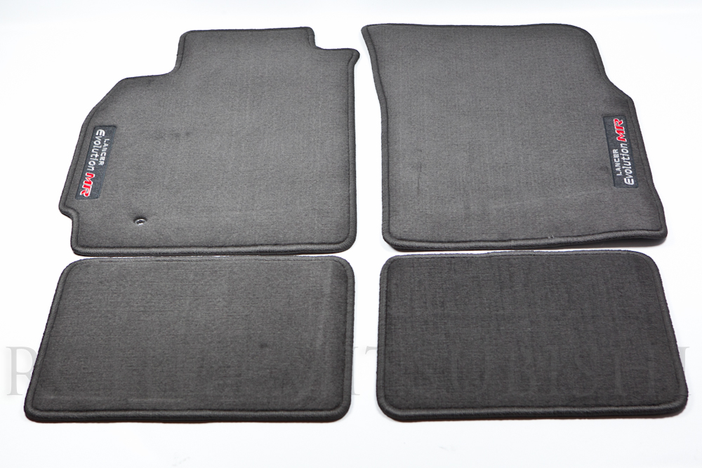 Genuine Mitsubishi Evolution  EVO MR  Black Carpet Floor Mats - Mitsubishi (mz313291)