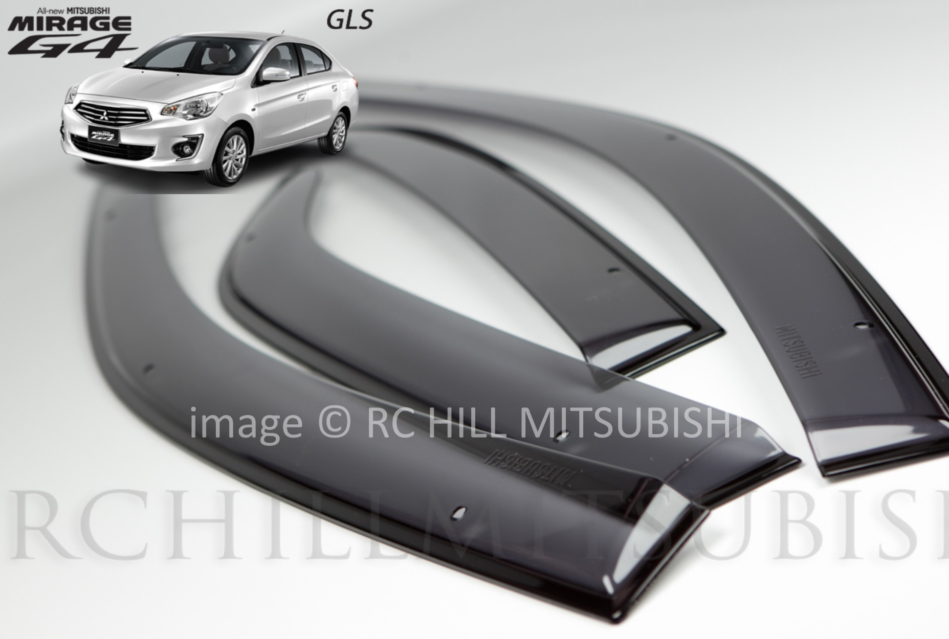 Genuine Mitsubishi Mirage G4 Sedan Side Window Deflectors - Mitsubishi (MZ330689)
