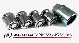 Wheel Locks, Chrome Plated - Acura (08W42-S6M-201)