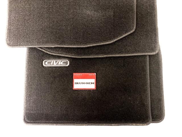 HONDA ACCESS 96-00 CIVIC 2DR MATS (BLACK) BACKORDER - IRUNOEM (08P15)