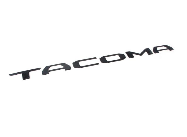 Tacoma Tailgate Insert Badge Emblem  2016-2019  BLACK  OEM Toyota PT948-35181-02