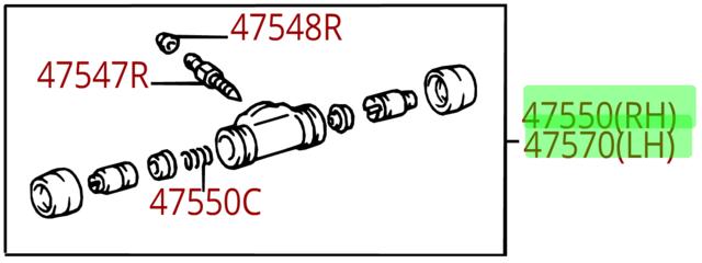 Wheel Cylinder - Toyota (47550-35280)