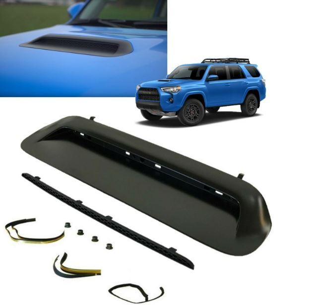 2010-2020 4Runner TRD PRO Hood Bulge Insert Kit (PAINTED MATTE BLACK) - Toyota (76181-35080-KIT)