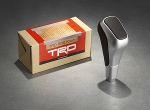 TRD Shift Knob | Silver with Black Leather | Sequoia & Tundra - Toyota (PTR57-00111)